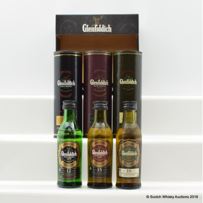 Glenfiddich The Single Malt Collection Mini Pack 3 x 5cl