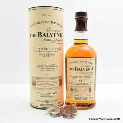 Balvenie Cuban Selection 14 Year Old with Keyring