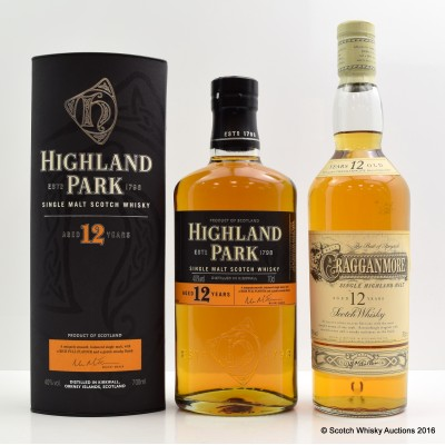 Cragganmore 12 Year Old & Highland Park 12 Year Old