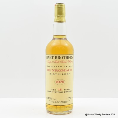 Benromach 1976 18 Year Old Hart Brothers