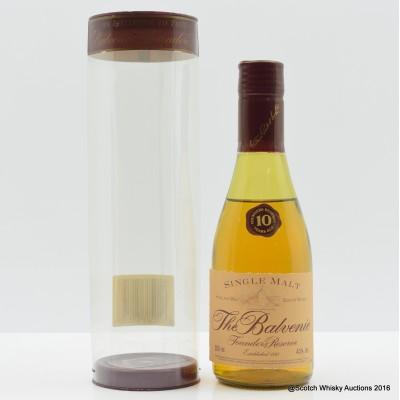Balvenie Founder's Reserve 10 Year Old Cognac Bottle 20cl