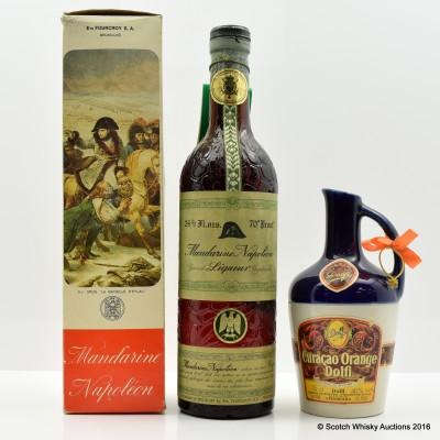 Curacao Orange Dolfi 35cl & Mandarine Napoleon Liqueur 24 3/5 Fl Oz