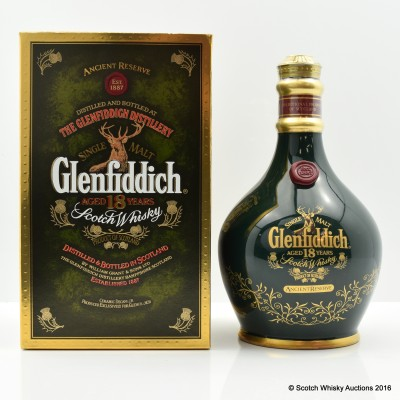 Glenfiddich 18 Year Old Anceint Reserve Green Decanter