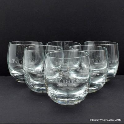 Talisker Rocking Glasses x 6
