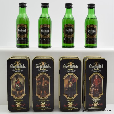 Glenfiddich Clans Of The Highlands Of Scotland Minis 4 x 5cl