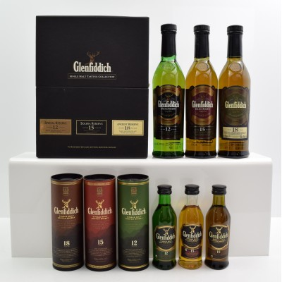 Glenfiddich Single Malt Tasting Collection 3 x 20cl & Glenfiddich Single Malt Collection 3 x 5cl