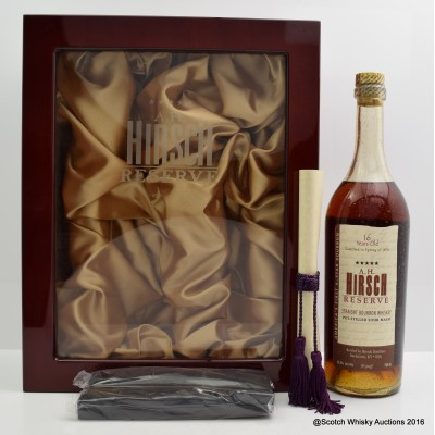 A.H. Hirsch Reserve 16 Year Old Bourbon 75cl Final Release