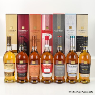 Glenmorangie Private Collection - Tùsail, Companta, Sonnalta PX, Milsean, Artein, Finealta & Ealanta