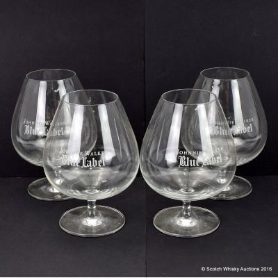 Johnnie Walker Blue Label Schott Zweisel Balloon Glasses x 4