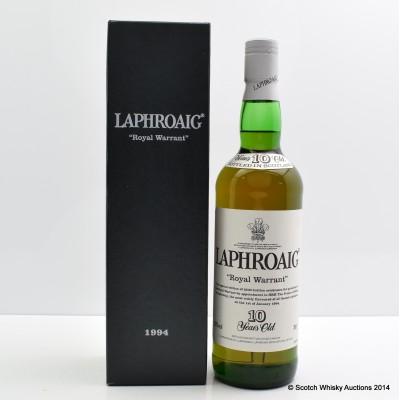 Laphroaig 1994 10 Year Old Royal Warrant