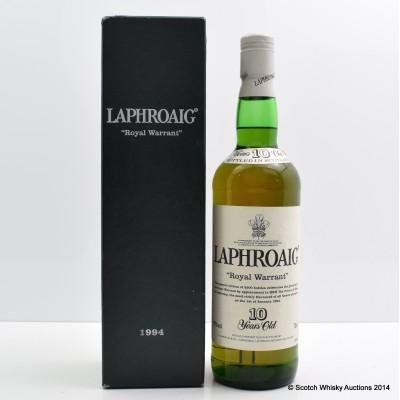 Laphroaig 1994 10 Year Old Pre Royal Warrant