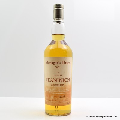 Manager's Dram Teaninich 2001 17 Year Old