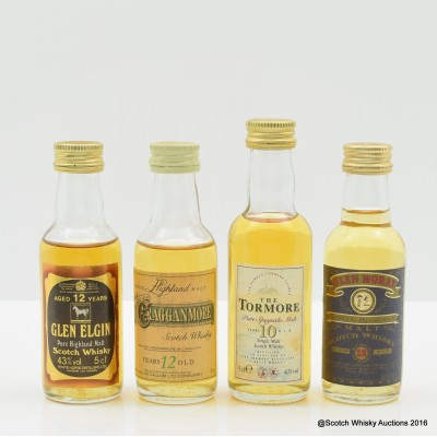 Assorted Minis 4 x 5cl Including Cragganmore 12 Year Old 5cl