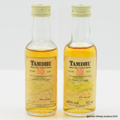 Tamdhu 10 Year Old Old Style Mini 5cl x 2
