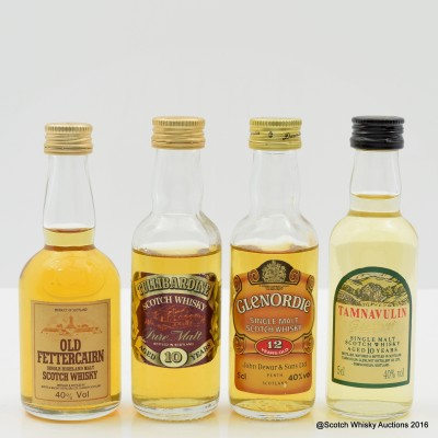 Assorted Minis 4 x 5cl Including Glenordie 12 Year Old 5cl