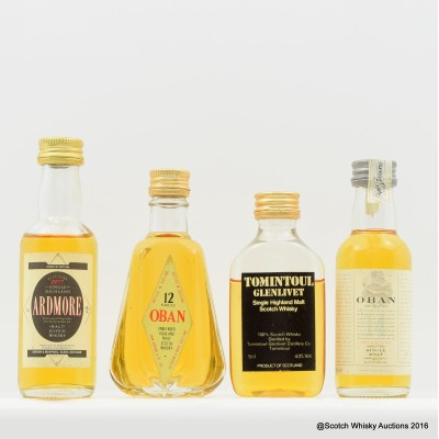 Assorted Minis 4 x 5cl Including Ardmore 1977 5cl
