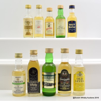 Assorted Minis 10 x 5cl Including White Horse 5cl