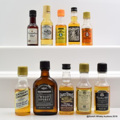 Assorted Minis 10 x 5cl Including Old Grand Dad 5cl
