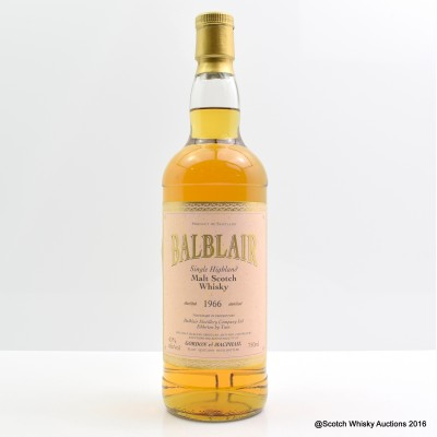 Balblair 1966 39 Year Old Gordon & MacPhail 75cl