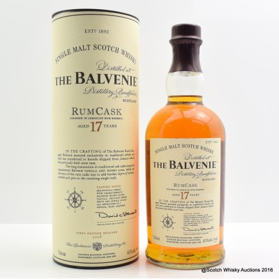 Balvenie Rum Cask 17 Year Old 75cl