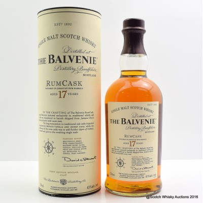 Balvenie Rum Cask 17 Year Old 75cl
