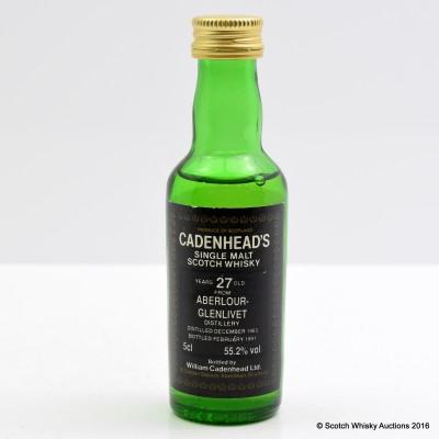 Aberlour-Glenlivet 1963 27 Year Old Cadenhead's Mini 5cl