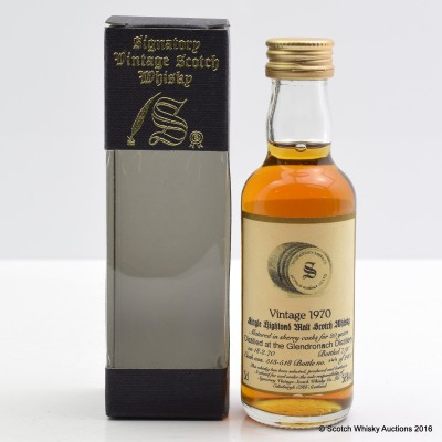 GlenDronach 1970 20 Year Old Signatory Mini 5cl