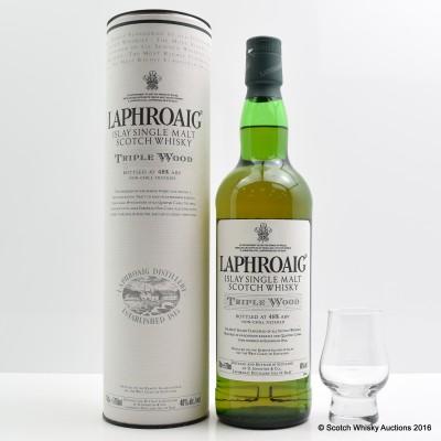 Laphroaig Triple Wood & Branded Glass