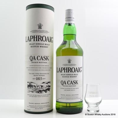 Laphroaig QA Cask 1L & Branded Feis Ile Glass