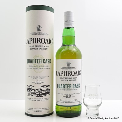 Laphroaig Quarter Cask & Branded Glass