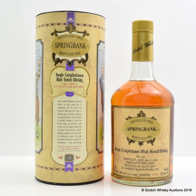 Springbank 1965 Lombard Collection 75cl