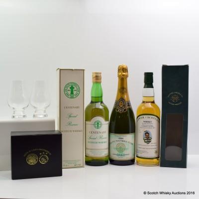 Flower of Scotland Celtic 30th Anniversary 'Lisbon Lions', Celtic Centenary Special Reserve 75cl, Celtic Gardet 1988 Champagne 75cl & Glasses