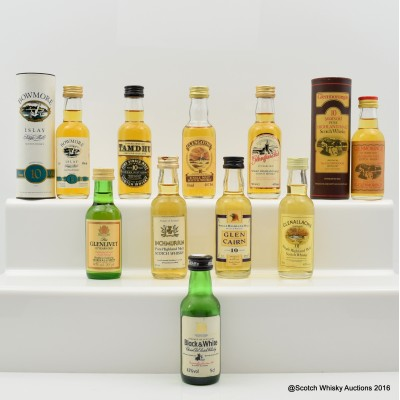 Assorted Minis 10 x 5cl Including Glengoyne 10 Year Old Mini 5cl
