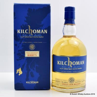 Kilchoman 2007 Single Cask Release for Binny's