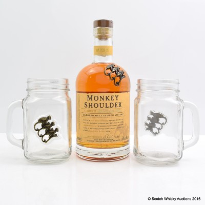 Monkey Shoulder & Branded Glasses X 2