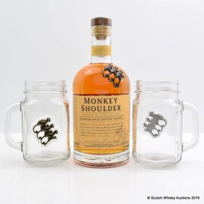 Monkey Shoulder & Branded Glasses X 2
