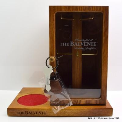 Balvenie Handcrafted Wooden Bottle Stand Key Holder & Keyring