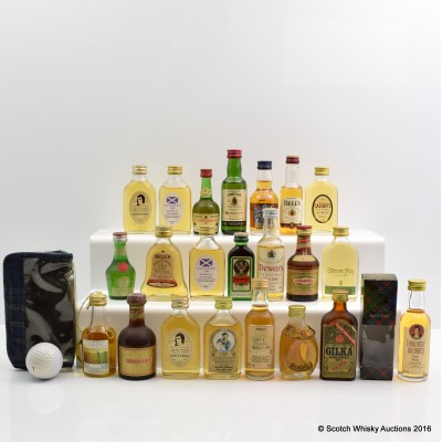 Assorted Minis x 22 Including Chivas Regal 18 Year Old