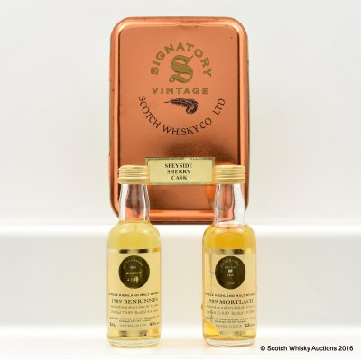 Mortlach 1989 10 Year Old 5cl & Benrinnes 1989 10 Year Old 5cl Signatory