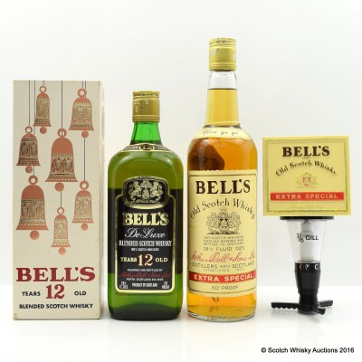 Bell's 12 Year Old 26 2/3 Fl Oz, Bell's Extra Special 26 2/3 Fl Oz & Bell's 1/6 Gill Optic