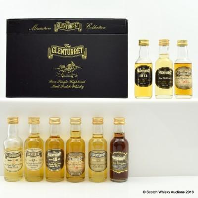 Glenturret Miniature Collection 6 x 5cl & Glenturret Minis 3 x 5cl Including Glenturret 10000 Days Mini 5cl