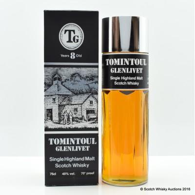TOMINTOUL GLENLIVET 8 Year Old PERFUME BOTTLE 75CL