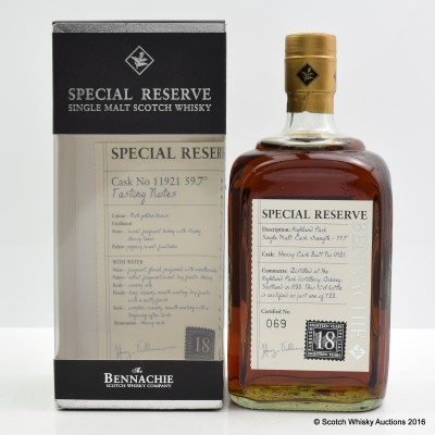 Highland Park 1988 18 Year Old Bennachie