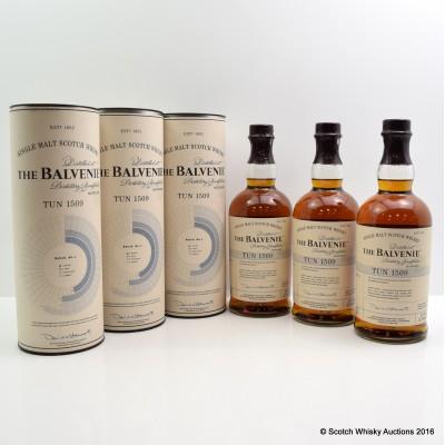 Balvenie Tun 1509 Batch #1 3 x 70cl