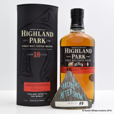 Highland Park 18 Year Old Arcade Fire Bottling & After Show Pass