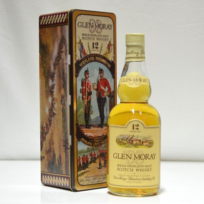 Glen Moray 12 Year Old Highland Regiments Tin