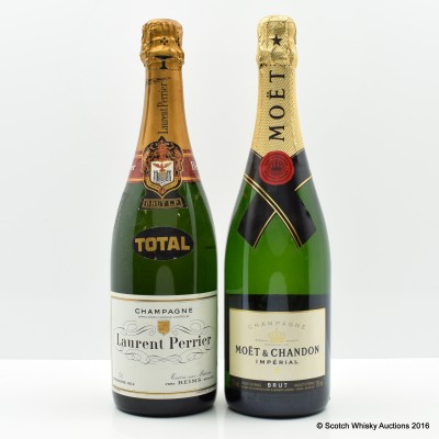 Laurent Perrier Brut 75cl & Moet Chandon Brut 75cl
