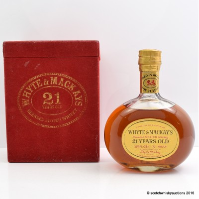 Whyte & Mackay 21 Year Old Decanter 26 2/3 Fl Oz