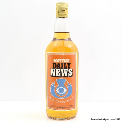 Scottish Daily News Scotch Whisky 26 2/3 Fl Oz