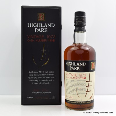 Highland Park 1973 28 Year Old Cask #11151
